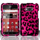 Hard Plastic Rubberized Design Case for LG Optimus Elite (Sprint/Virgin Mobile) – Hot Pink Leopard