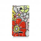 Hard Plastic Bling Rhinestone Design Case for LG Lucid 4G (Verizon) - Fall Flowers