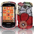 Hard Plastic Bling Rhinestone Design Case for Samsung Brightside U380 - Fall Flowers