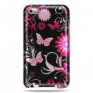Hard Plastic Design Case for Apple iTouch 4 (4th Gen) – Pink Butterfly