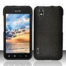 Hard Plastic Rubber Feel Design Case for LG Marquee LS855 - Carbon Fiber