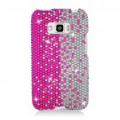 Hard Plastic Bling Design Case for LG Optimus Elite (Sprint/Virgin Mobile) – Silver & Pink