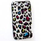 Hard Plastic Rubberized Design Case for Motorola Atrix 3 HD MB886 (AT&T) – Rainbow Leopard