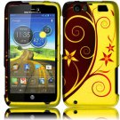 Hard Plastic Rubberized Design Case for Motorola Atrix 3 HD MB886 (AT&T) – Elegance Swirl