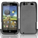 Hard Plastic Rubberized Design Case for Motorola Atrix 3 HD MB886 (AT&T) - Carbon Fiber