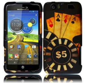 Hard Plastic Rubberized Design Case for Motorola Atrix 3 HD MB886 (AT&T) � Ace Poker
