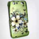 Hard Plastic Rubberized Design Case for Motorola Atrix 3 HD MB886 (AT&T) – Flowers & Butterfly