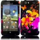 Hard Plastic Rubberized Design Case for Motorola Atrix 3 HD MB886 (AT&T) – Heavenly Flowers