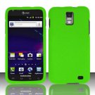 Hard Plastic Rubber Feel Case for Samsung Galaxy S II Skyrocket i727 (AT&T) - Neon Green