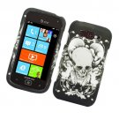 Hard Plastic Rubberized Snap On Design Case for Samsung Focus 2 i667 (AT&T) - Skull and Angels
