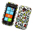 Hard Plastic Rubberized Snap On Design Case for Samsung Focus 2 i667 (AT&T) - Colorful Leopard