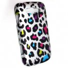 Hard Plastic Rubberized Snap On Design Case for Samsung Focus 2 i667 (AT&T) - Rainbow Leopard