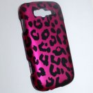 Hard Plastic Rubberized Snap On Design Case for Samsung Focus 2 i667 (AT&T) - Hot Pink Leopard