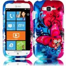 Hard Plastic Rubberized Snap On Design Case for Samsung Focus 2 i667 (AT&T) - Butterfly Bliss