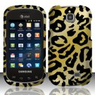 Hard Plastic Rubberized Snap On Design Case for Samsung Galaxy Appeal i827 (AT&T) - Golden Cheetah
