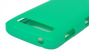 Hard Plastic Snap On Rubberized Cover Case for Samsung Galaxy S Blaze 4G - Turquoise