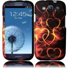 Hard Plastic Rubberized Design Case Cover for Samsung Galaxy S3 III – Gold Hearts