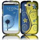 Hard Plastic Rubberized Design Case Cover for Samsung Galaxy S3 III – Royal Swirl