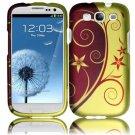 Hard Plastic Rubberized Design Case Cover for Samsung Galaxy S3 III – Elegance Swirl
