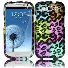 Hard Plastic Rubberized Design Case Cover for Samsung Galaxy S3 III – Colorful Leopard