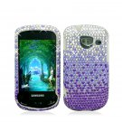 Hard Plastic Bling Rhinestone Design Case for Samsung Brightside U380 - Purple Waterfall