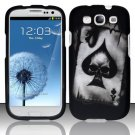 Hard Plastic Rubberized Design Case Cover for Samsung Galaxy S3 III – Ace of Spade Skull