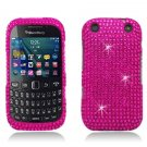 Hot Pink Hard Plastic Bling Design Case for BlackBerry Curve 9310/9320 (Verizon/Boost Mobile)