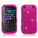 Hot Pink Hard Plastic Bling Design Case for BlackBerry Curve 9310/9320 (Verizon/Boost Mobile)