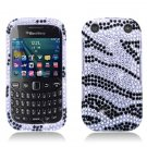 Black Zebra Hard Plastic Bling Design Case for BlackBerry Curve 9310/9320 (Verizon/Boost Mobile)