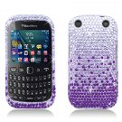 Purple Waterfall Hard Plastic Bling Design Case BlackBerry Curve 9310/9320 (Verizon/Boost Mobile)