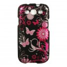 Hard Plastic Snap On Design Case Cover for Samsung Galaxy S3 III – Pink Butterfly