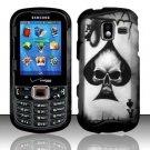 Ace of Spade Skull Hard Plastic Rubberized Design Case for Samsung Intensity III SCH U485 (Verizon)