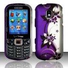 Purple Vines Hard Plastic Rubberized Design Case for Samsung Intensity III SCH U485 (Verizon)