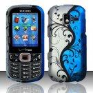 Blue Vines Hard Plastic Rubberized Design Case for Samsung Intensity III SCH U485 (Verizon)