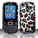 Rainbow Leopard Hard Plastic Rubberized Design Case for Samsung Intensity III SCH U485 (Verizon)