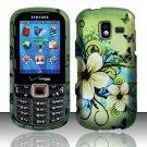 Flowers & Butterfly Hard Plastic Rubberized Design Case for Samsung Intensity III SCH U485 (Verizon)