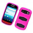 2-in-1 Hard Plastic and Silicone Hybrid Case for Samsung Admire R720 - Pink