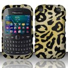 Golden Cheetah Hard Plastic Rubberized Case for BlackBerry Curve 9310/9320 (Verizon/Boost Mobile)