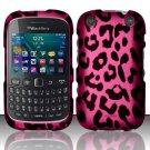 Hot Pink Leopard Hard Plastic Rubberized Case for BlackBerry Curve 9310/9320 (Verizon/Boost Mobile)