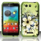 Hard Plastic Rubberized Snap On Case Motorola Photon Q 4G LTE XT897 (Sprint) – Flower Butterfly