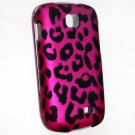 Hard Plastic Rubberized Snap On Design Case for Samsung Galaxy Appeal i827 (AT&T) - Hot Pink Leopard