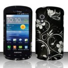 Hard Plastic Rubber Feel Design Case for Samsung Stratosphere i405 - Midnight Garden