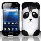 Hard Plastic Rubberized Snap On Design Case for Samsung Exhilarate i577 (AT&T) - Panda Bear