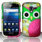 Hard Plastic Rubberized Snap On Design Case for Samsung Exhilarate i577 (AT&T) - Owl Eyes