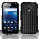 Hard Plastic Rubberized Snap On Design Case for Samsung Exhilarate i577 (AT&T) - Carbon Fiber