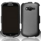 Hard Plastic Rubberized Snap On Case for Samsung Galaxy Reverb M950 (Sprint/Virgin) - Carbon Fiber