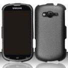 Hard Plastic Rubberized Snap On Case for Samsung Galaxy Reverb M950 (Sprint/Virgin) - Carbon Fiber