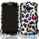 Hard Plastic Rubberized Snap On Case Samsung Galaxy Reverb M950 (Sprint/Virgin) - Rainbow Leopard