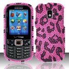 Hard Plastic Bling Design Case for Samsung Intensity 3 III SCH U485 (Verizon) - Hot Pink Leopard