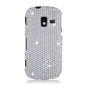 Hard Plastic Bling Design Case for Samsung Intensity 3 III SCH U485 (Verizon) - Silver